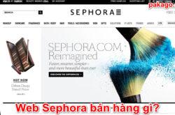 Web Sephora bán hàng gì?