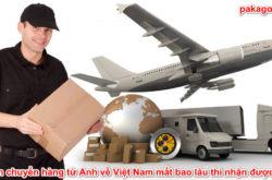 Gửi hàng từ Anh về Việt Nam mất bao lâu thì nhận được?