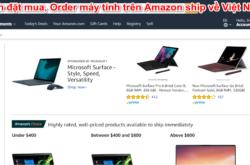 Cách đặt mua, Order máy tính trên Amazon ship về Việt Nam