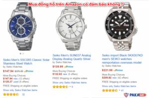 Mua đồng hồ trên Amazon có đảm bảo không?