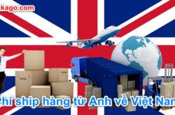 Bảng giá phí vận chuyển ship gửi hàng từ Anh về Việt Nam