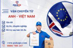 Dịch vụ vận chuyển từ Anh về Việt Nam- Pakago uy tín