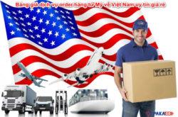 Bảng giá dịch vụ order hàng từ Mỹ về Việt Nam uy tín giá rẻ