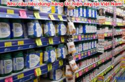 Nhu cầu tiêu dùng hàng Úc hiện nay tại Việt Nam
