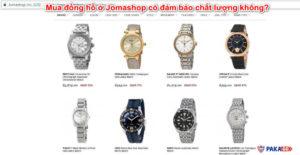 Mua đồng hồ ở Jomashop có đảm bảo chất lượng không?