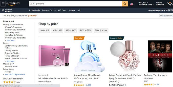 Amazon.com – Website thương mại điện tử, bán mọi mặt hàng