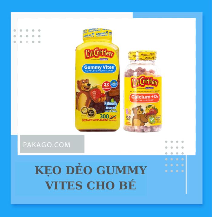 Mua kẹo dẻo Gummy Vites USA bổ sung Vitamin tổng hợp cho bé