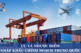 Ưu và nhược điểm của nhập khẩu Trung Quốc chính ngạch